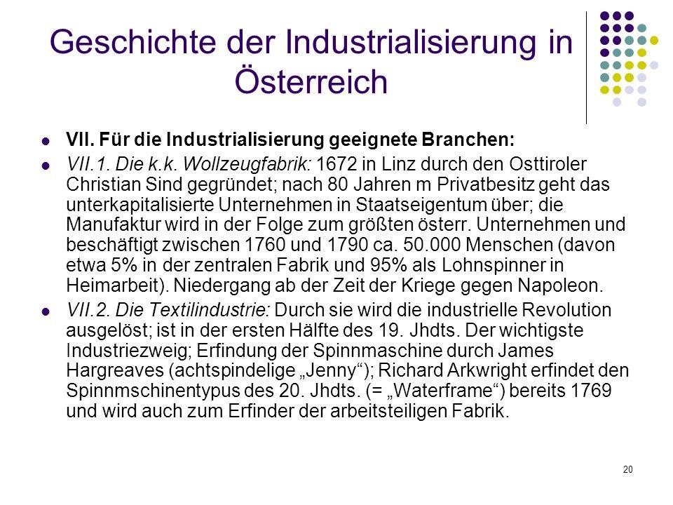 20 Geschichte der Industrialisierung in Österreich VII.