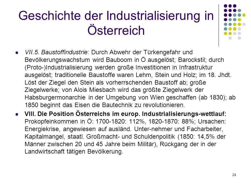 24 Geschichte der Industrialisierung in Österreich VII.5.
