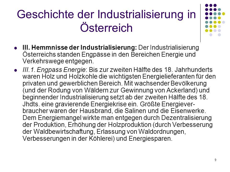 9 Geschichte der Industrialisierung in Österreich III.