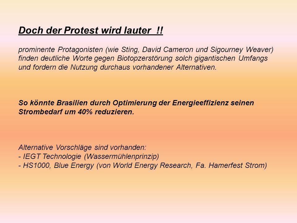Doch der Protest wird lauter !.