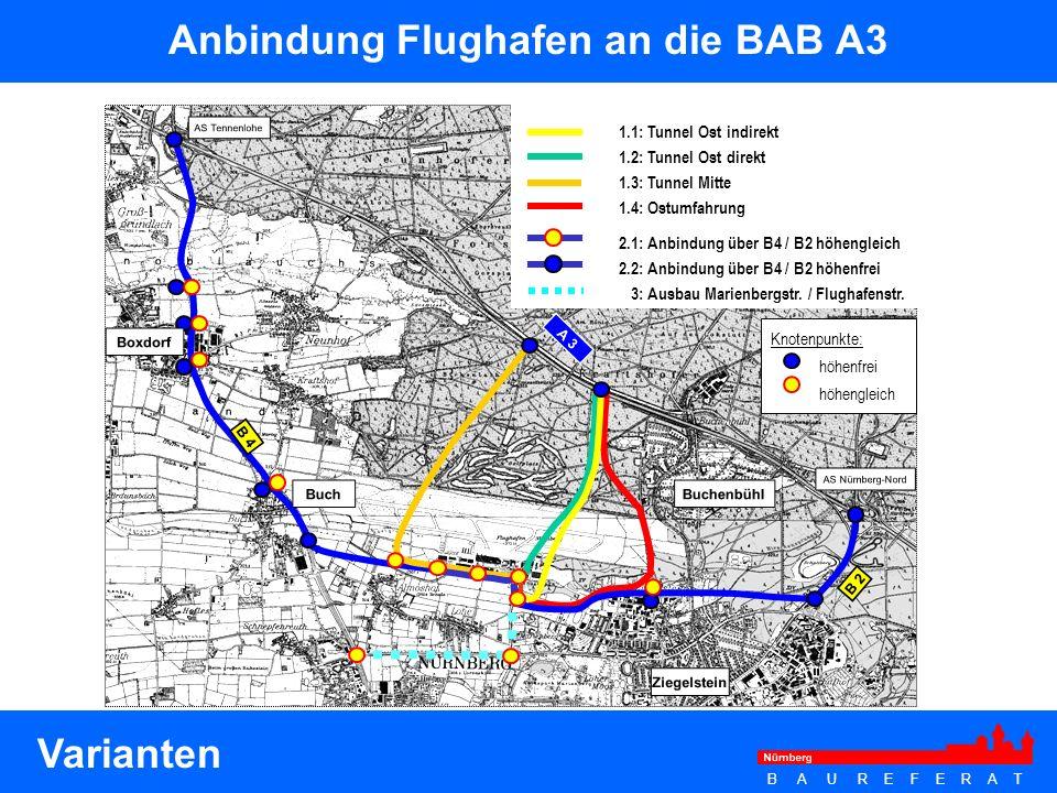B A U R E F E R A T Hafen Nürnberg Folgende verkehrliche Anpassungsmaßnahmen werden geplant bzw.