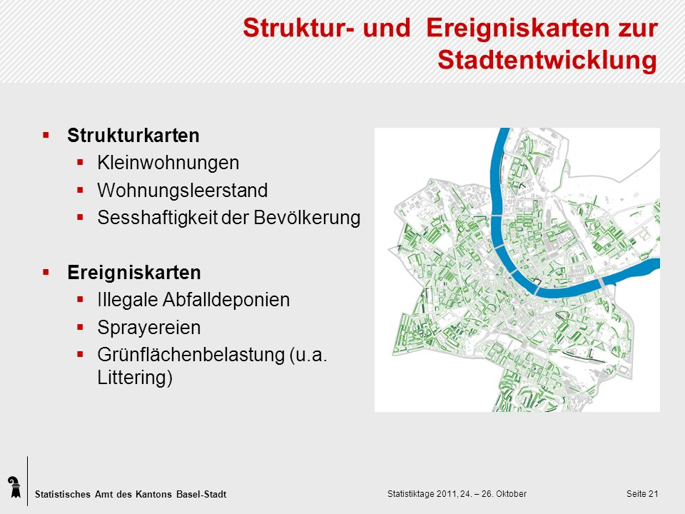 Statistisches Amt des Kantons Basel-Stadt Statistiktage 2011, 24.