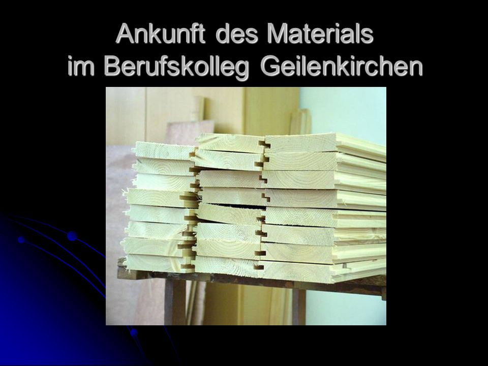 Ankunft des Materials im Berufskolleg Geilenkirchen