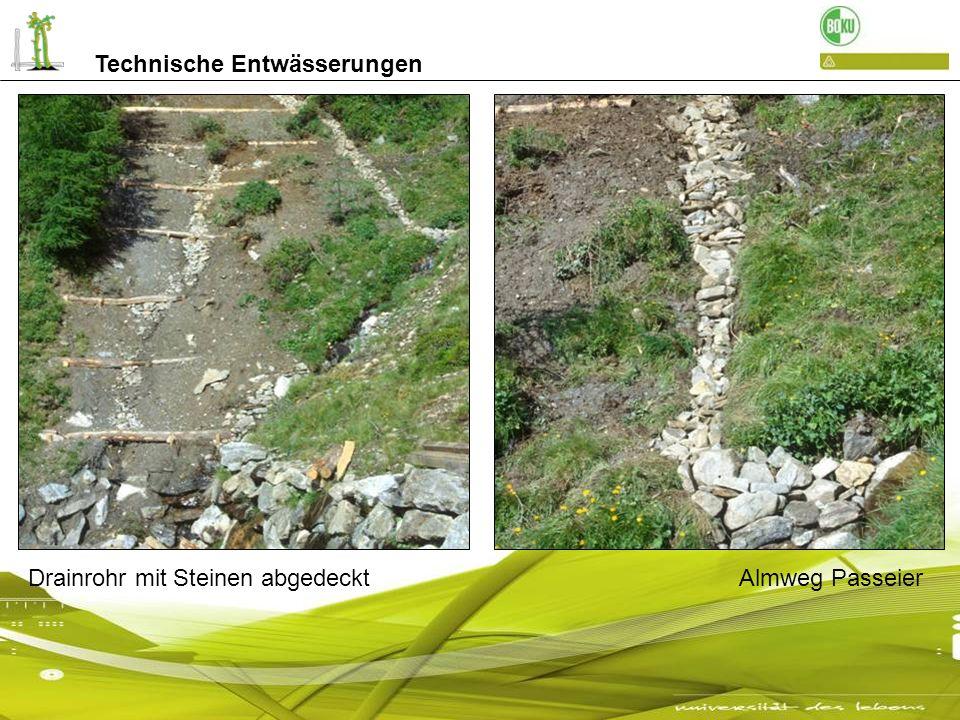 Steindrainagen an der Autobahn A21 Im Wiener Raum Technische Entwässerungen