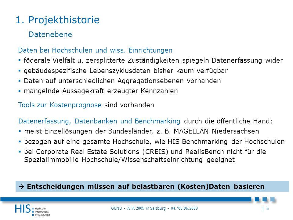 | 5 GENU - ATA 2009 in Salzburg - 04./05.06.2009 Daten bei Hochschulen und wiss.