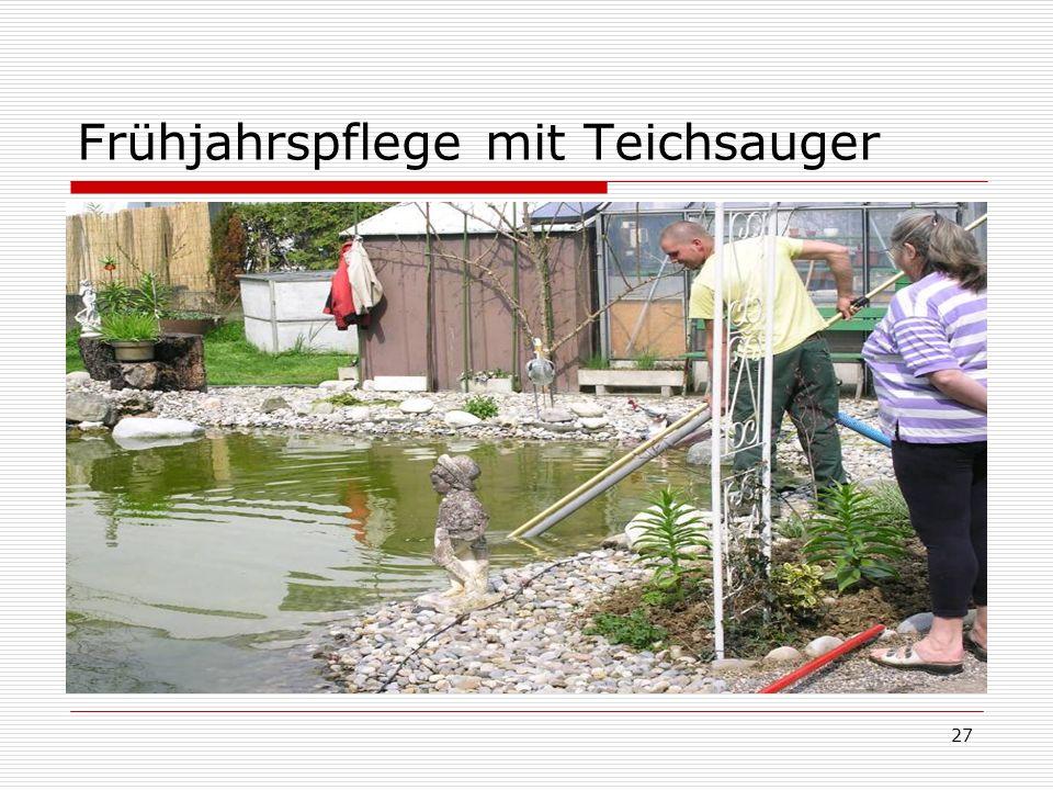 27 Frühjahrspflege mit Teichsauger