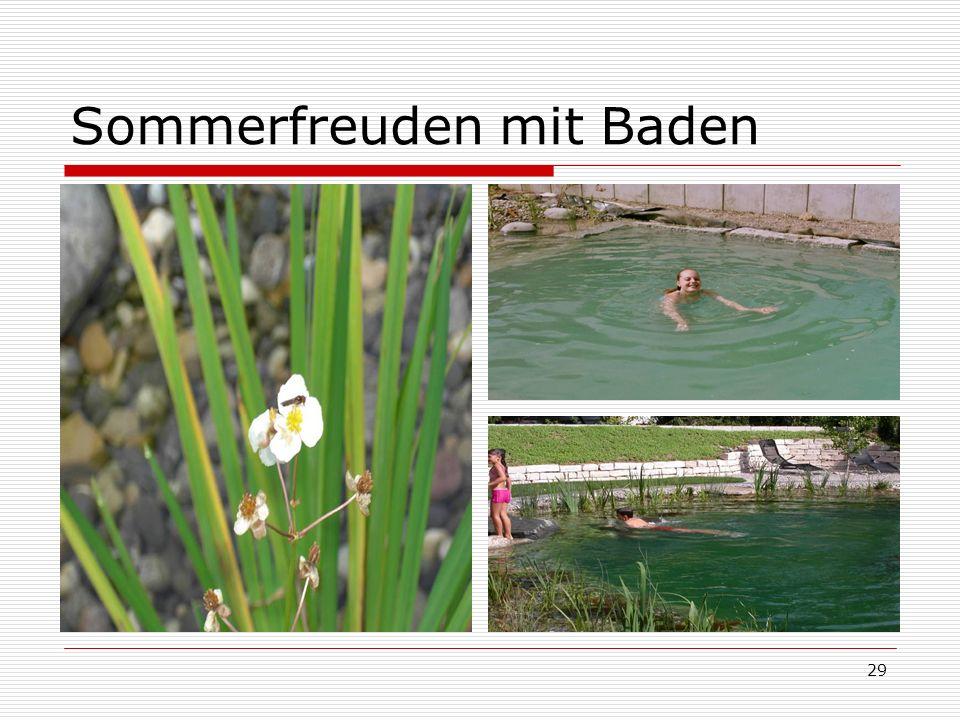 29 Sommerfreuden mit Baden