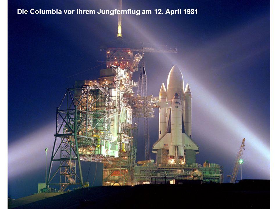 Die Columbia vor ihrem Jungfernflug am 12. April 1981