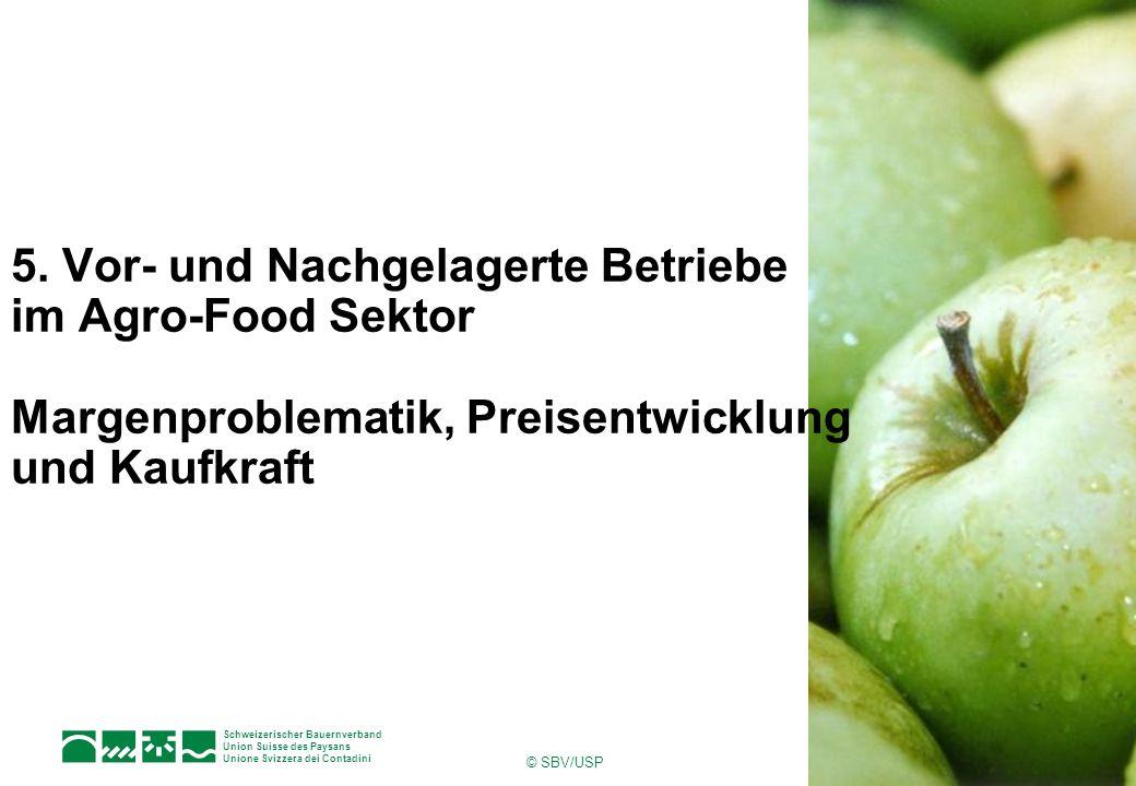 Schweizerischer Bauernverband Union Suisse des Paysans Unione Svizzera dei Contadini © SBV/USP 1Seite 5. Vor- und Nachgelagerte Betriebe im Agro-Food