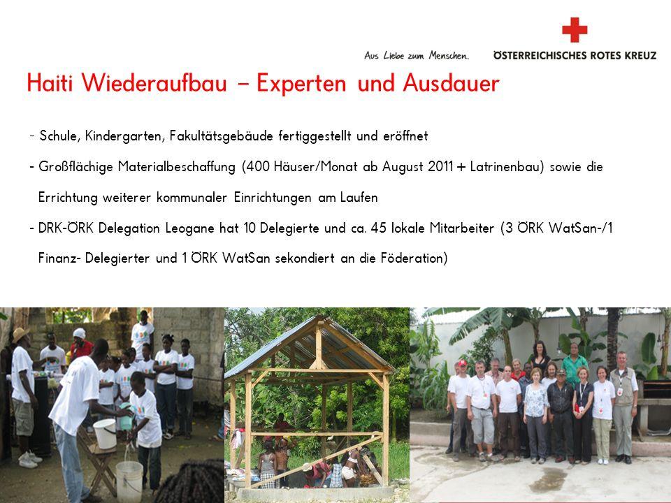 Haiti Wiederaufbau – Experten und Ausdauer - Schule, Kindergarten, Fakultätsgebäude fertiggestellt und eröffnet - Großflächige Materialbeschaffung (40