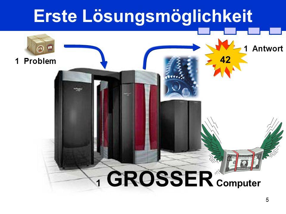 5 Erste Lösungsmöglichkeit 1 GROSSER Computer 1 Problem 42 1 Antwort