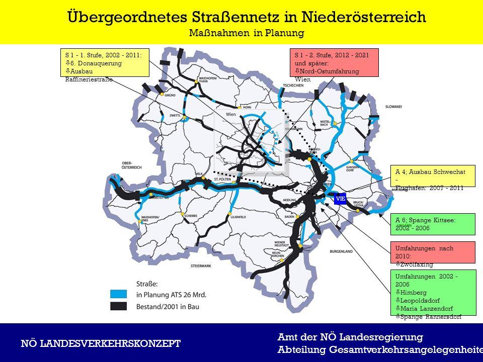 Amt der NÖ Landesregierung Abteilung Gesamtverkehrsangelegenheiten NÖ LANDESVERKEHRSKONZEPT Übergeordnetes Straßennetz in Niederösterreich Maßnahmen i