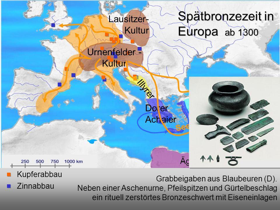 EinwanderungUrnenfelder-Kultur Einwanderung vor 1000 v.