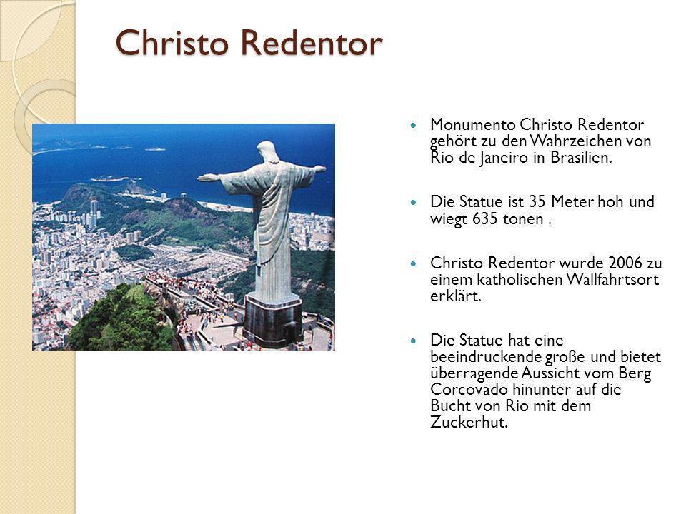 Christo Redentor Monumento Christo Redentor gehört zu den Wahrzeichen von Rio de Janeiro in Brasilien.