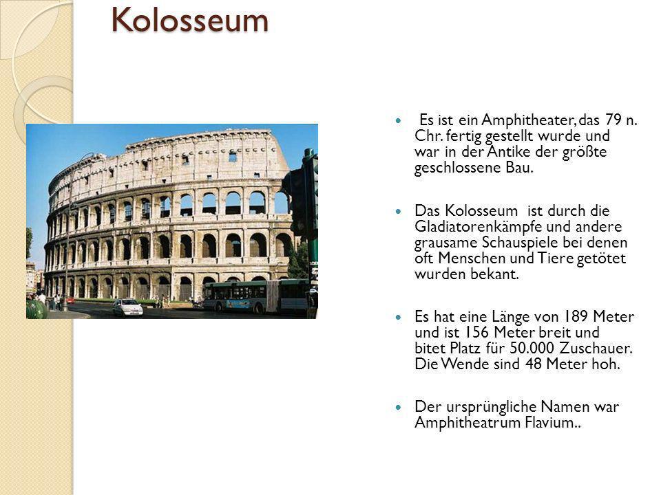 Kolosseum Es ist ein Amphitheater, das 79 n.Chr.