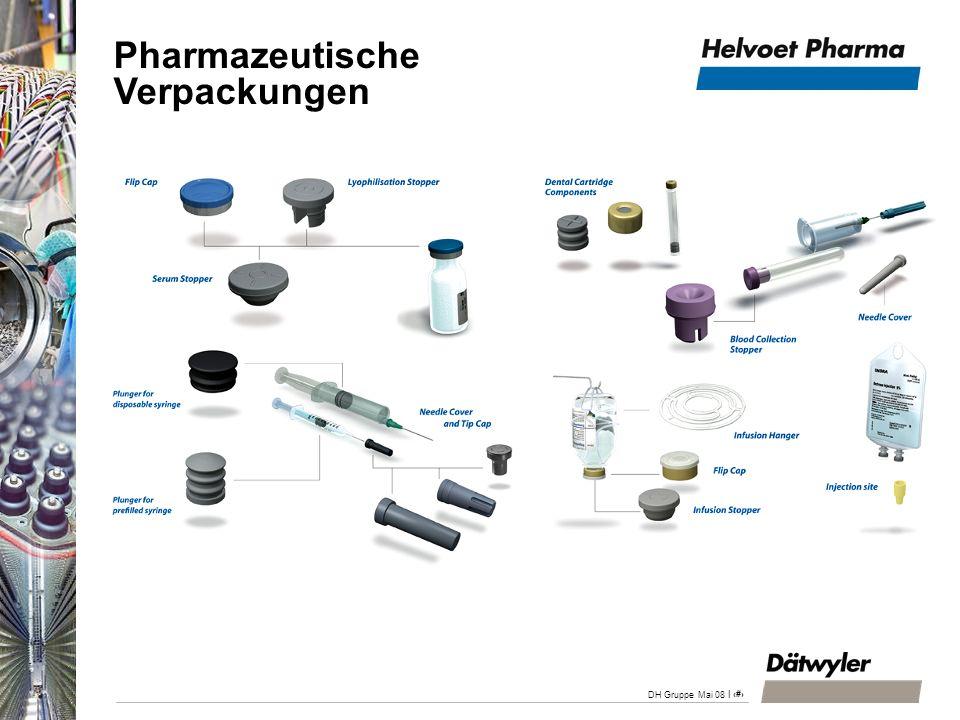 | 24 DH Gruppe Mai 08 Produktionsstandorte Belgien Deutschland Italien USA Niederlande (Werkzeugbau) Vertriebsgesellschaften/-Organisationen Belgien Italien USA Werk in Pregnana Milanese (IT) Werk in Ittersbach (DE) Werk Alken (BE) Pharmazeutische Verpackungen