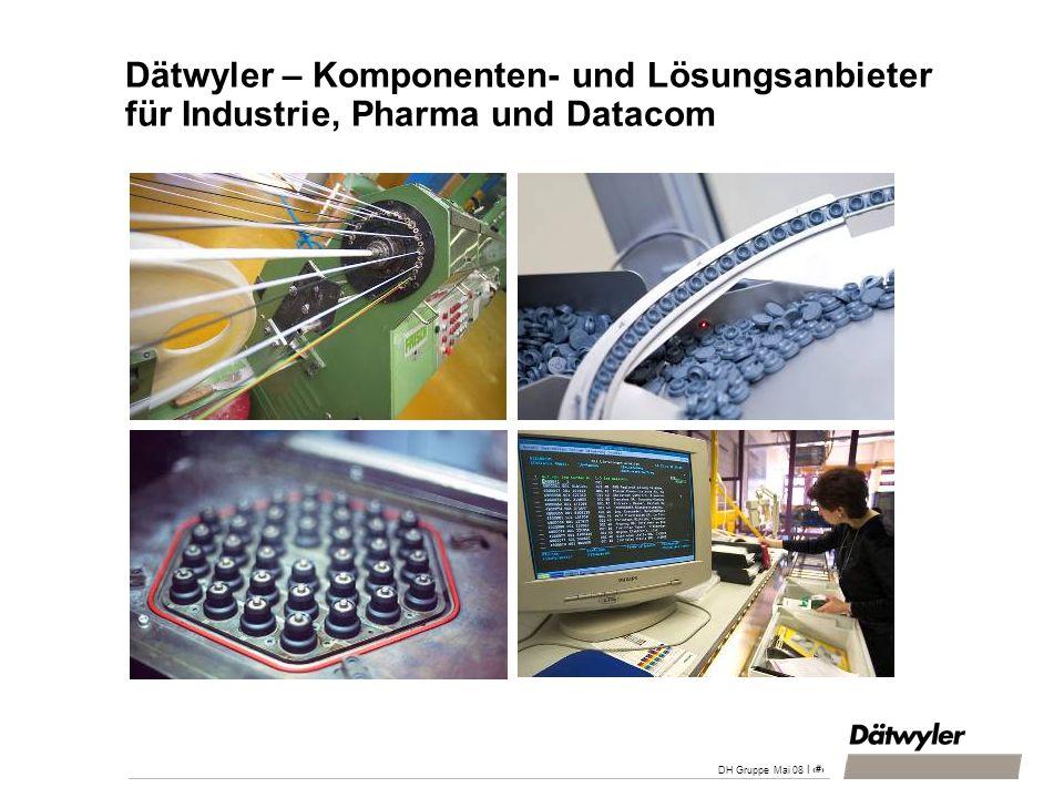 | 31 DH Gruppe Mai 08 Dätwyler – Komponenten- und Lösungsanbieter für Industrie, Pharma und Datacom