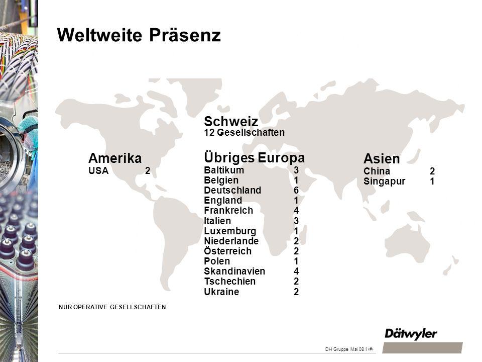 | 9 DH Gruppe Mai 08 Auslandanteil 2007 69.7% (i.V.