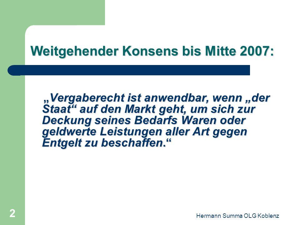 6. Hessischer Vergabetag Frankfurt - 6. Februar 2011 Kommunale Grundstücksgeschäfte Hermann Summa OLG Koblenz
