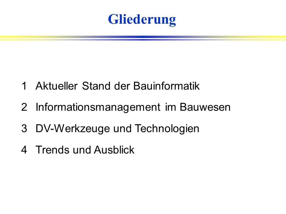 Trends der Bauinformatik Prof. Dr.-Ing. Joaquín Díaz Bundesverband der Bausoftware e.V., Berlin FH Gießen-Friedberg Fachgebiet Bauinformatik CIP Ingen