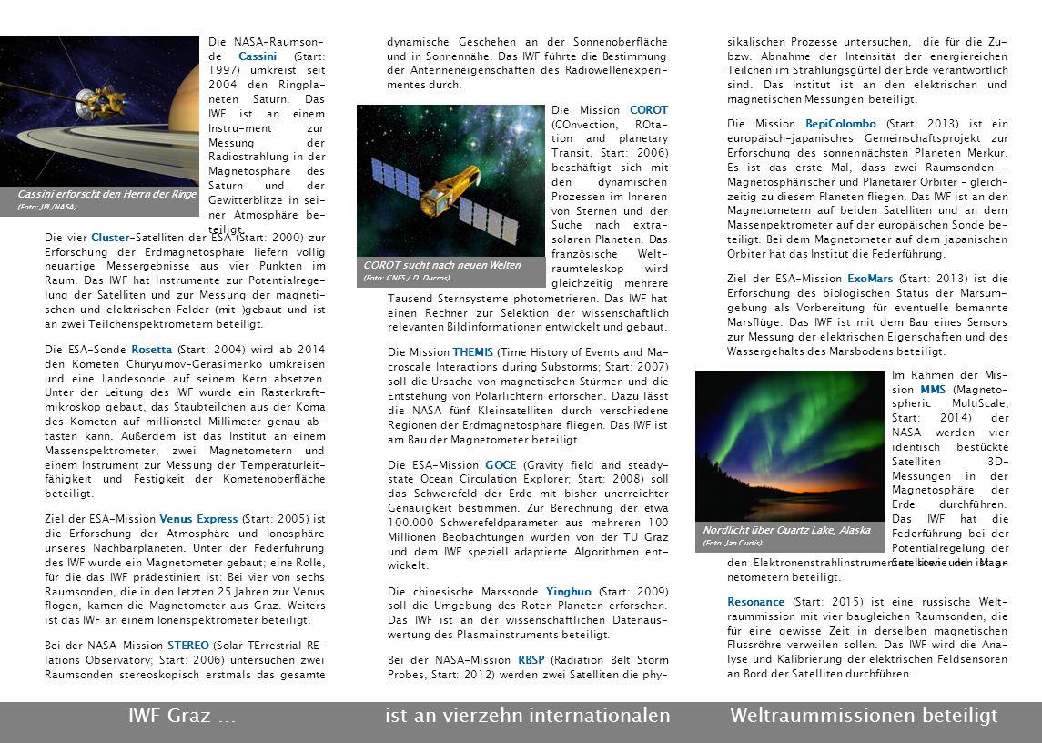 Die vier Cluster-Satelliten der ESA (Start: 2000) zur Erforschung der Erdmagnetosphäre liefern völlig neuartige Messergebnisse aus vier Punkten im Raum.