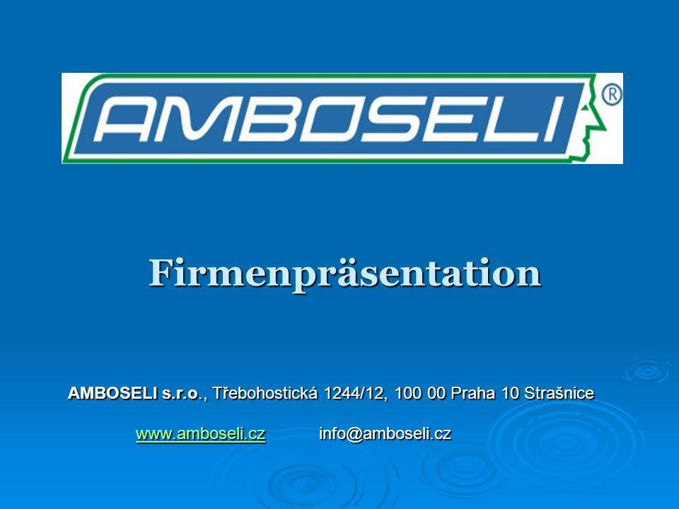 Firmenpräsentation AMBOSELI s.r.o., Třebohostická 1244/12, 100 00 Praha 10 Strašnice www.amboseli.czwww.amboseli.cz info@amboseli.cz www.amboseli.cz