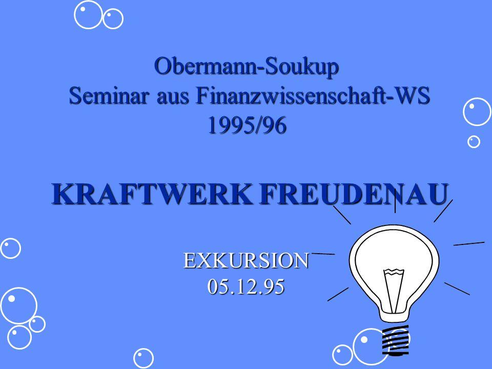 Obermann-Soukup Seminar aus Finanzwissenschaft-WS 1995/96 KRAFTWERK FREUDENAU EXKURSION 05.12.95