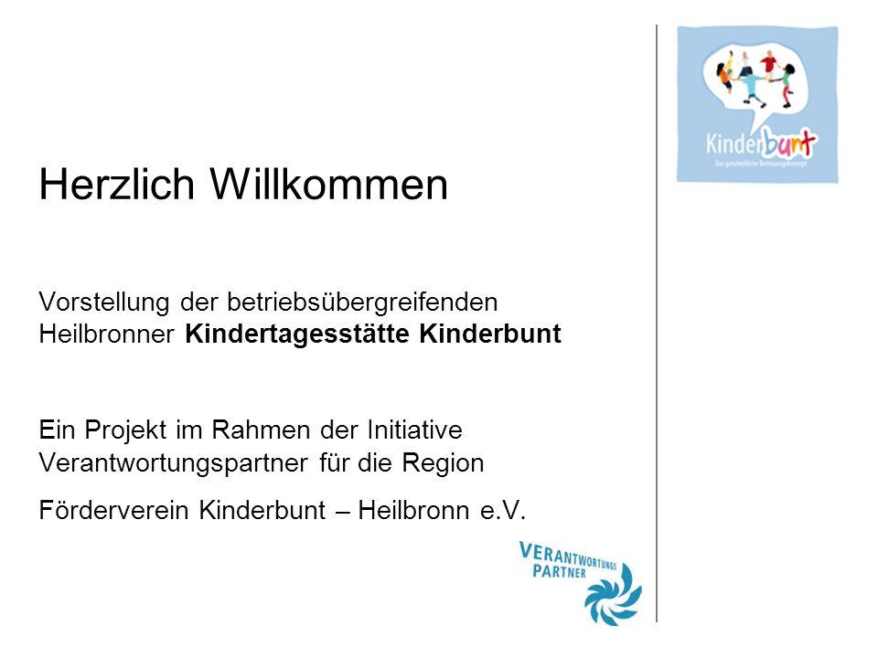 Herzlich Willkommen Vorstellung der betriebsübergreifenden Heilbronner Kindertagesstätte Kinderbunt Ein Projekt im Rahmen der Initiative Verantwortung