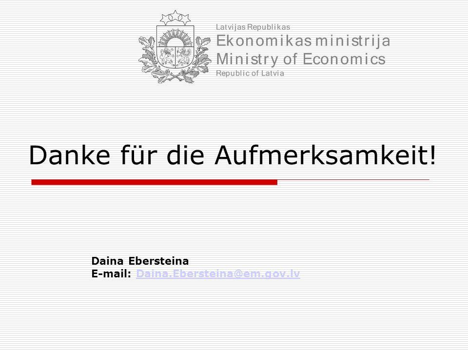 Danke für die Aufmerksamkeit! Daina Ebersteina E-mail: Daina.Ebersteina@em.gov.lvDaina.Ebersteina@em.gov.lv