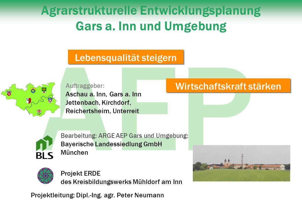 AEP Bearbeitung: ARGE AEP Gars und Umgebung: Bayerische Landessiedlung GmbH München Projekt ERDE des Kreisbildungswerks Mühldorf am Inn Projektleitung