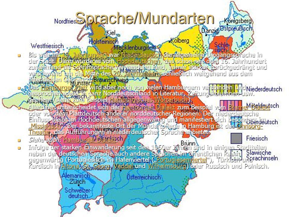 Sprache/Mundarten Bis weit ins 19.