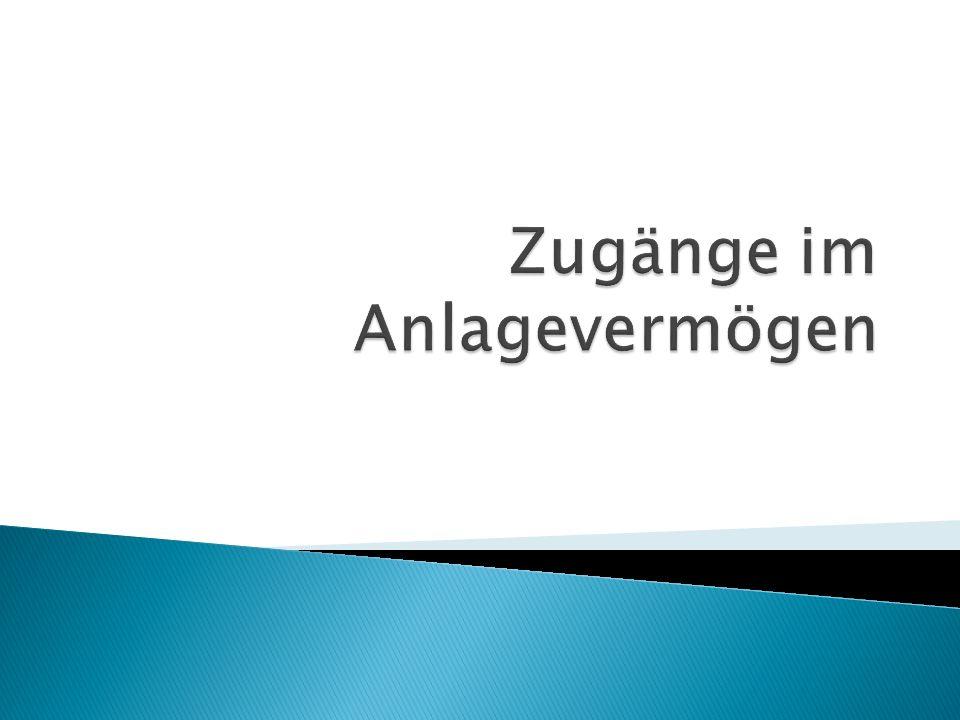 Gemäß EStG abnutzbare Anlagegüter AW/HW max.