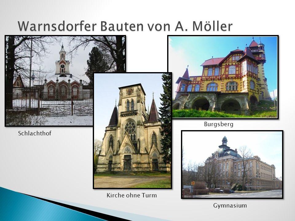 Schlachthof Kirche ohne Turm Burgsberg Gymnasium