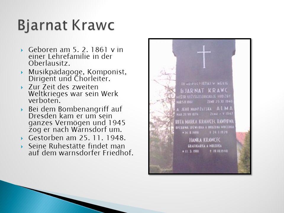 Geboren am 5. 2. 1861 v in einer Lehrefamilie in der Oberlausitz. Musikpädagoge, Komponist, Dirigent und Chorleiter. Zur Zeit des zweiten Weltkrieges