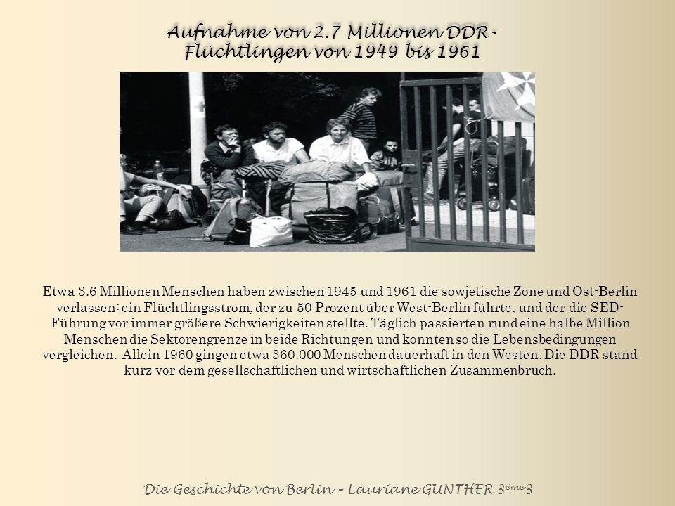 Die Geschichte von Berlin – Lauriane GUNTHER 3 ème 3 Bau der Berliner Mauer am 13. Oktober 1961