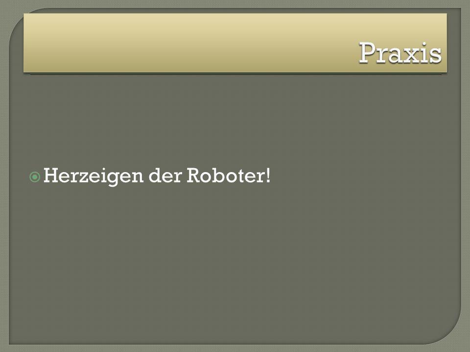 Herzeigen der Roboter!