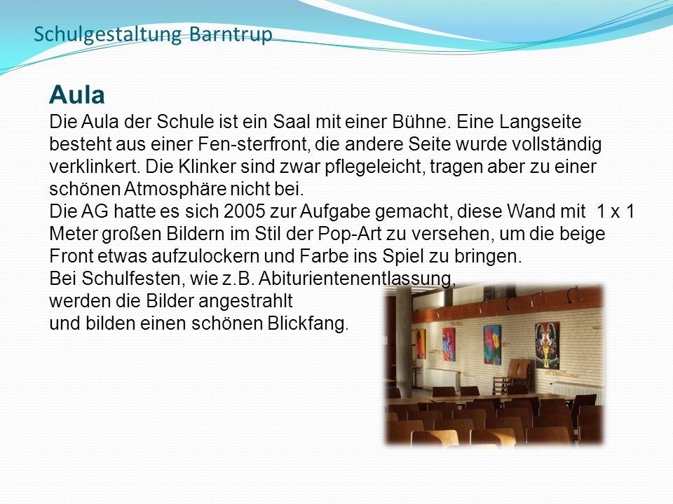 Schulgestaltung Barntrup Aula Die Aula der Schule ist ein Saal mit einer Bühne.