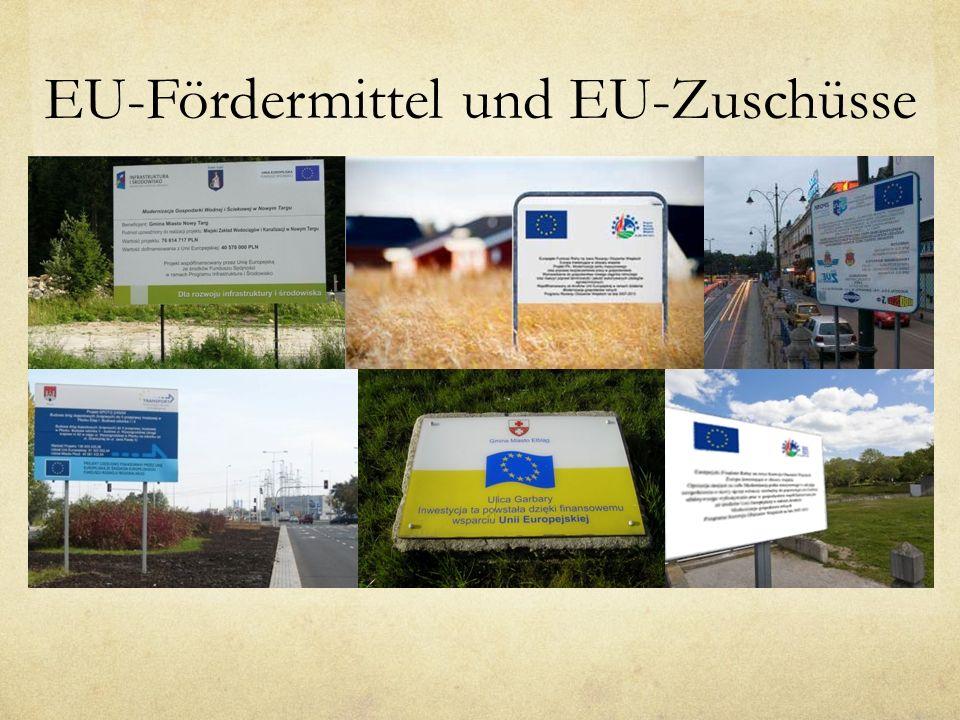 EU-Fördermittel und EU-Zuschüsse