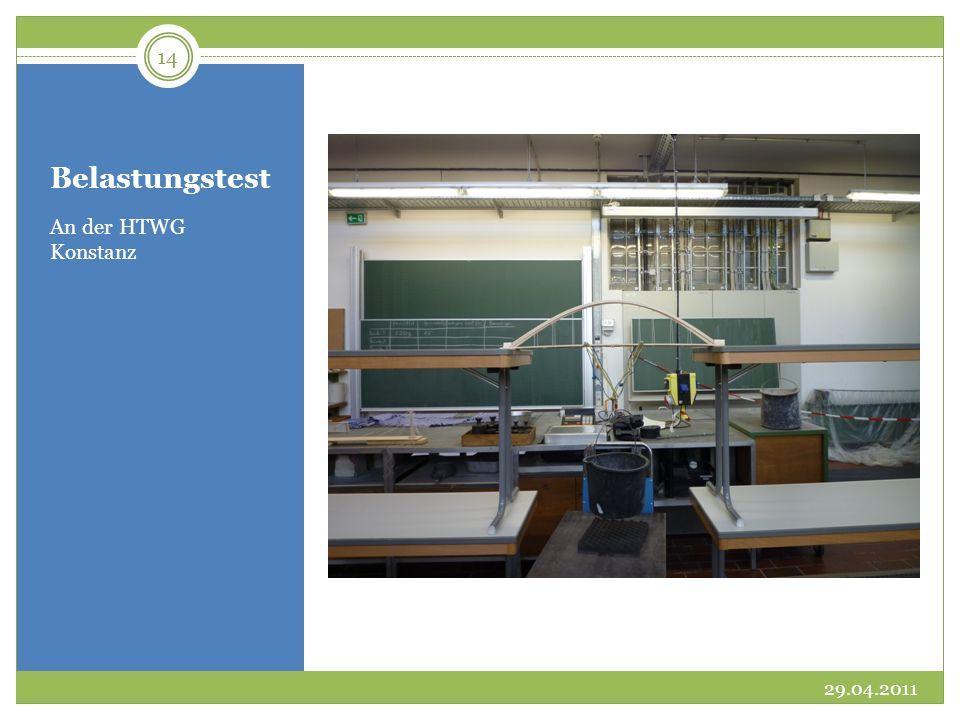 Belastungstest An der HTWG Konstanz 29.04.2011 14