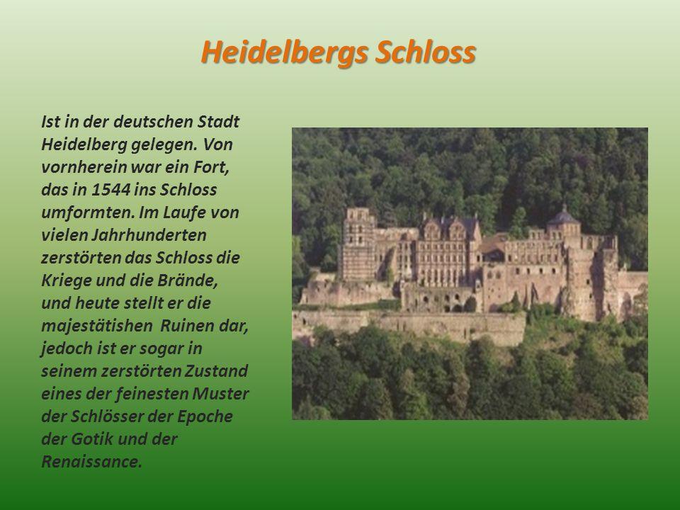 Heidelbergs Schloss Ist in der deutschen Stadt Heidelberg gelegen.