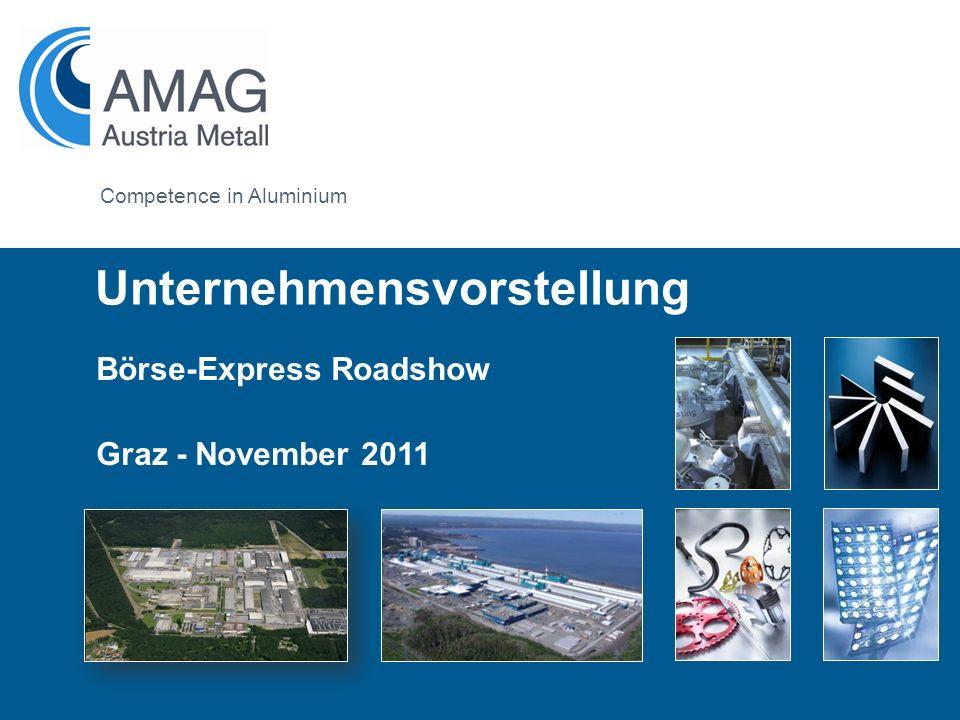 Formatvorlage des Untertitelmasters durch Klicken bearbeiten Competence in Aluminium Börse-Express Roadshow Graz - November 2011 Unternehmensvorstellu