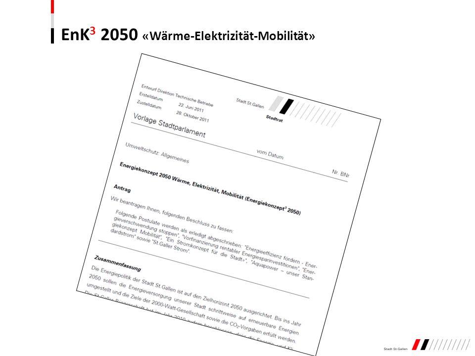 EnK 3 2050 «Wärme-Elektrizität-Mobilität»