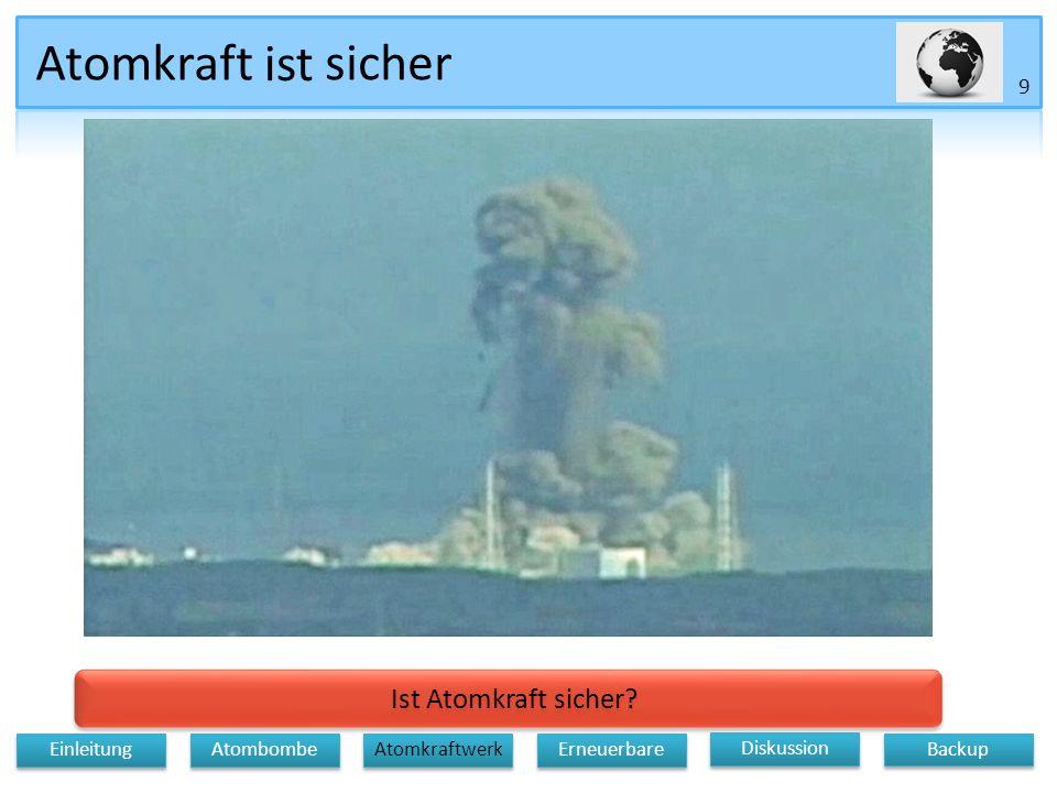 Atomkraft Ist Atomkraft sicher.