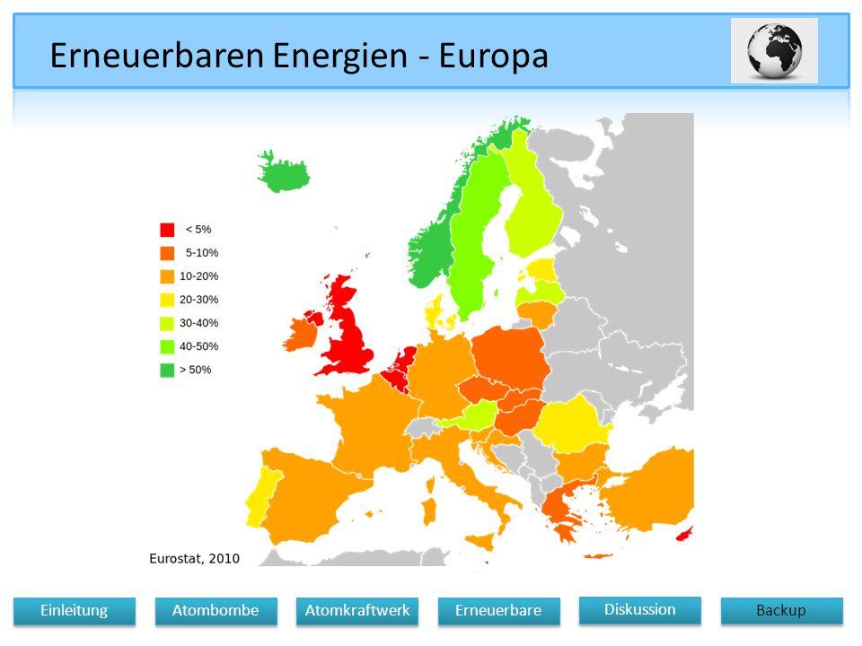 Erneuerbaren Energien - Europa Diskussion Atomkraftwerk Erneuerbare Einleitung Atombombe Backup