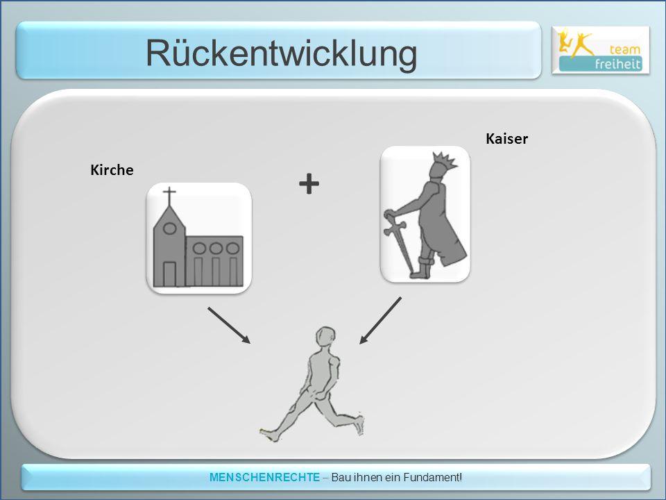 Rückentwicklung MENSCHENRECHTE – Bau ihnen ein Fundament! Kirche Kaiser +