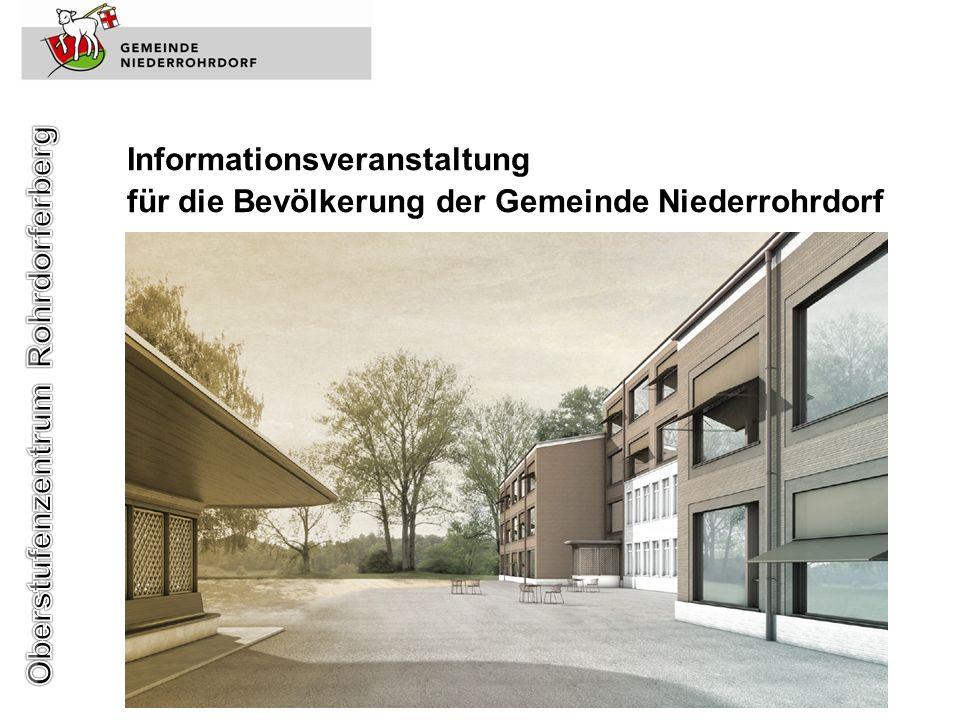 Informationsveranstaltung für die Bevölkerung der Gemeinde Niederrohrdorf
