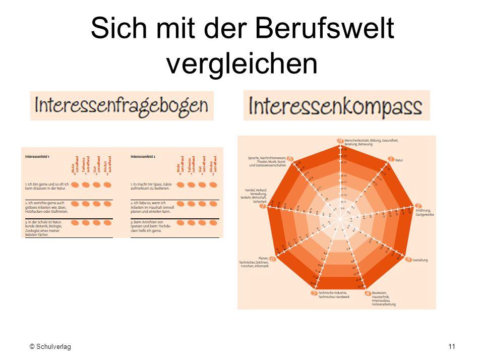 Sich mit der Berufswelt vergleichen © Schulverlag11