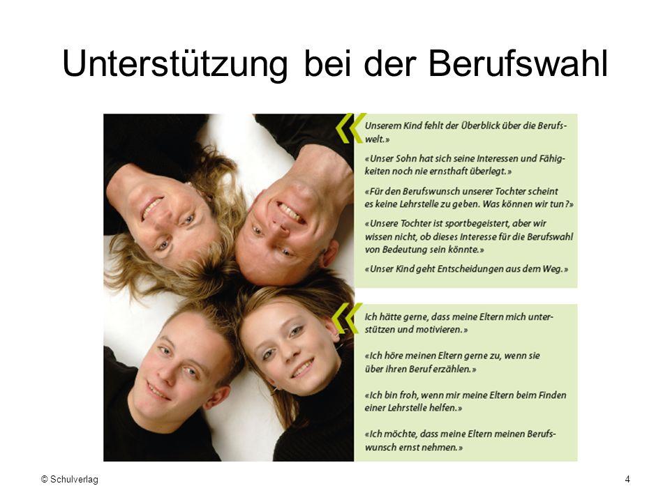 Unterstützung bei der Berufswahl © Schulverlag4