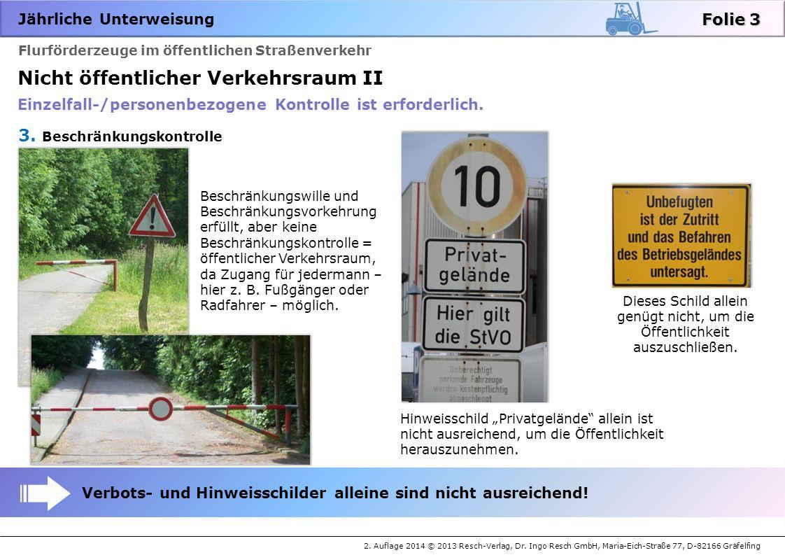 Jährliche Unterweisung 2.Auflage 2014 © 2013 Resch-Verlag, Dr.