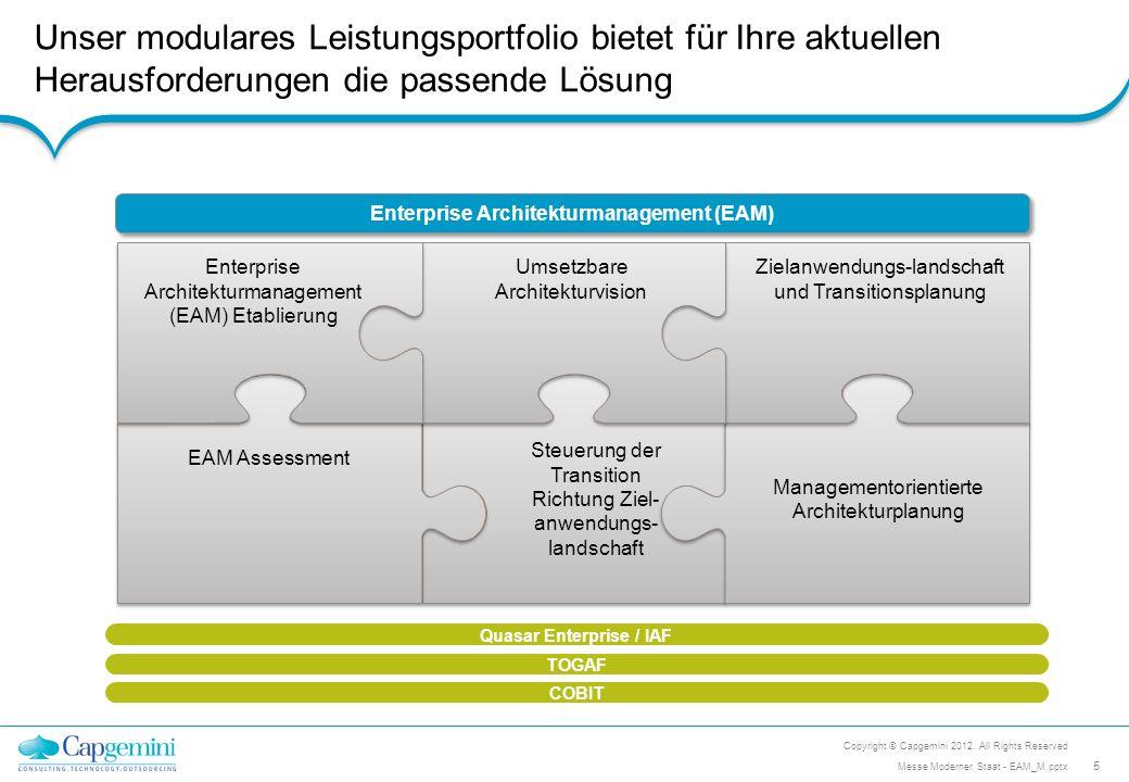 Zielanwendungs-landschaft und Transitionsplanung Managementorientierte Architekturplanung Steuerung der Transition Richtung Ziel- anwendungs- landscha